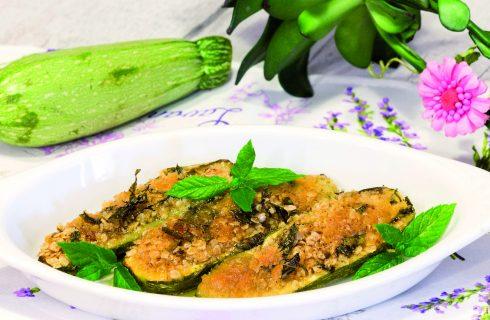 Zucchine ai fiocchi di avena e menta
