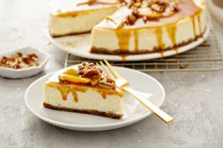 Cheesecake senza cottura al caramello