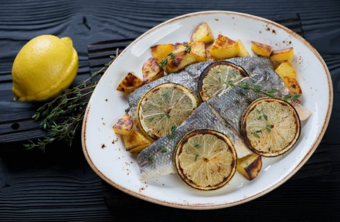 Filetto di branzino al forno al cartoccio