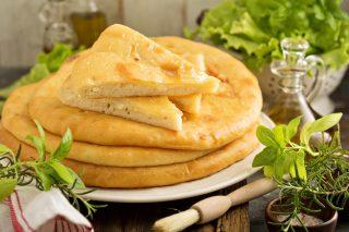 Focaccia con il formaggio
