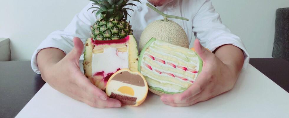 Un ibrido melone-dessert: Marugoto Melon Cake