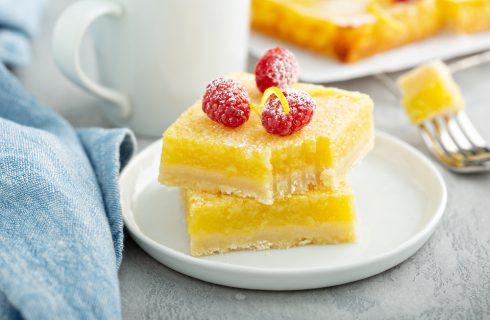 Quadrotti al limone, un dolce finger food
