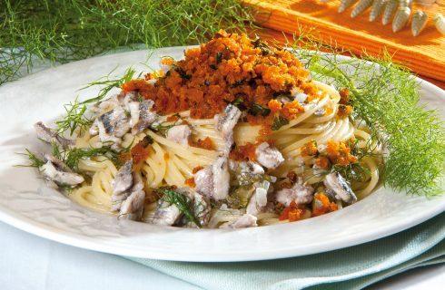 Spaghetti alle sarde e finocchietto selvatico