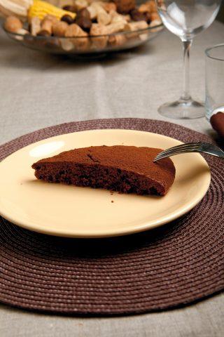 Torta al cioccolato senza glutine e vegana