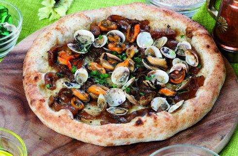 Pizza Cipolla irpina grigliata e frutti di mare