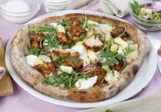 Pizza con coda di rospo alla paprika, una pizza prelibata