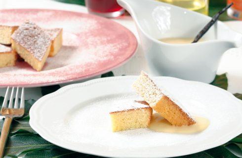 Torta di mele con crema inglese, per dessert