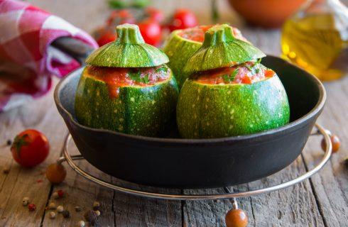 Zucchine tonde ripiene vegetariane