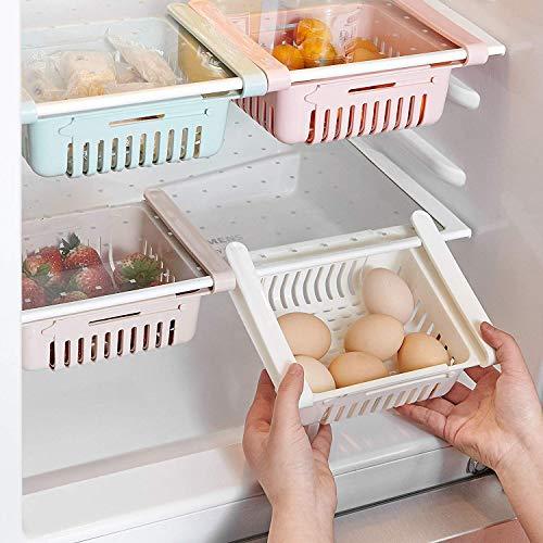 Set di quattro organizer per frigorifero a scomparsa