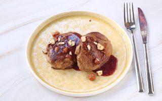 Filetto di manzo con riduzione al vino rosso e nocciole