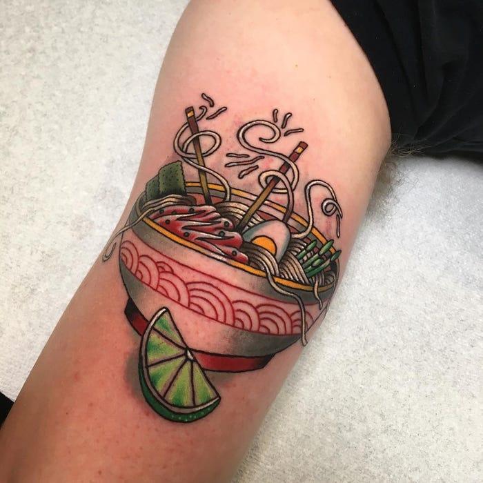 44 tattoo per chi ama davvero il cibo - Foto 41