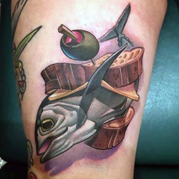 44 tattoo per chi ama davvero il cibo - Foto 37