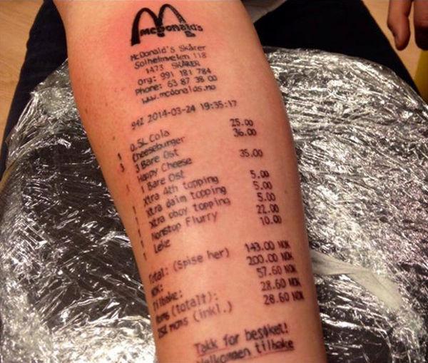 44 tattoo per chi ama davvero il cibo - Foto 36