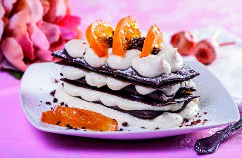 Sfoglia di cannolo siciliano al cioccolato
