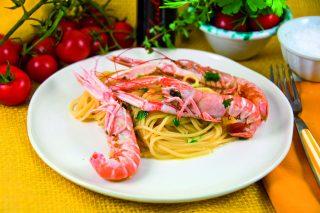Spaghetti agli scampi: sfumate con il prosecco