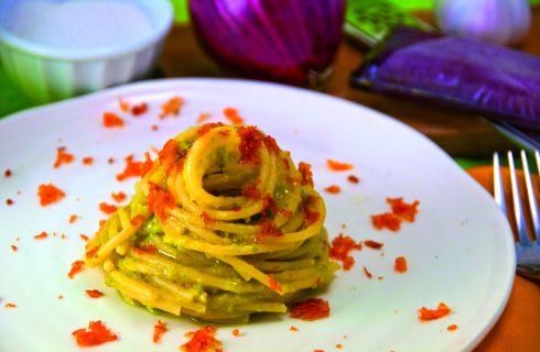 Spaghetti zucchine bottarga, prelibati