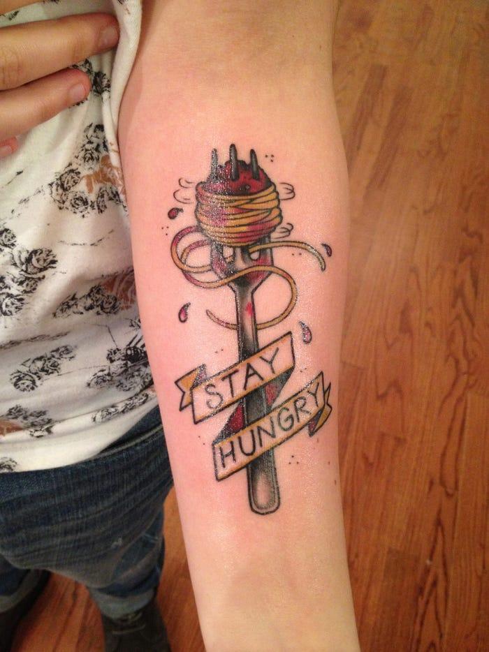 44 tattoo per chi ama davvero il cibo - Foto 38