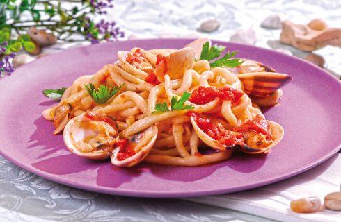 Spaghettoni senza glutine alle vongole veraci