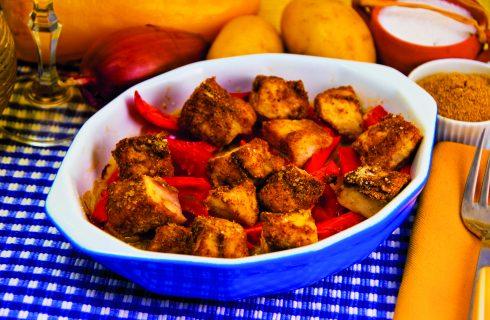 Spezzatino di palombo al curry