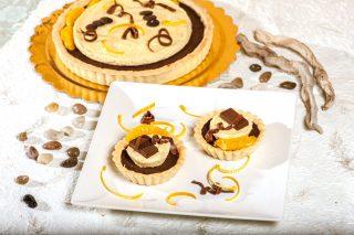 Tartellette al cioccolato e cremoso all'arancia