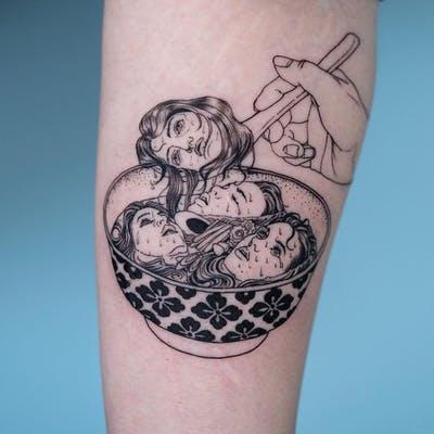 44 tattoo per chi ama davvero il cibo - Foto 42