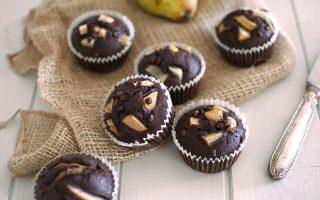Muffin pere e cioccolato: è pronta la merenda