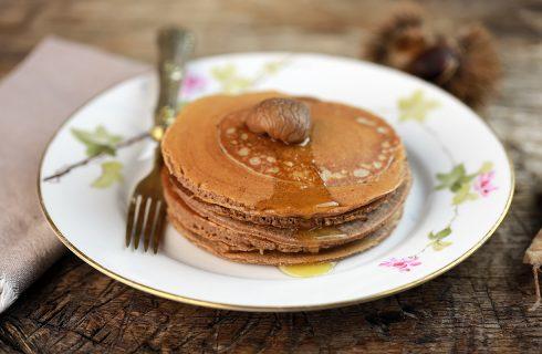 Pancakes alle castagne: ideali per la colazione