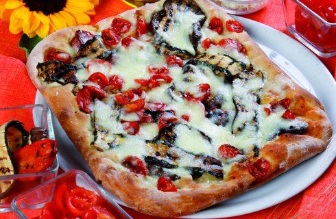 Pizza in teglia alla Ortolana