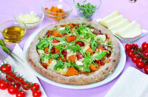 Pizza Paesana, con zucca e salsiccia