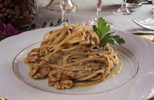 Spaghetti al pesto autunnale