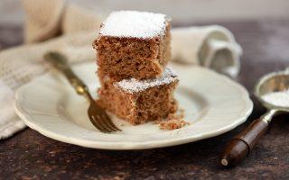 Torta allo yogurt e cacao con farina di castagne