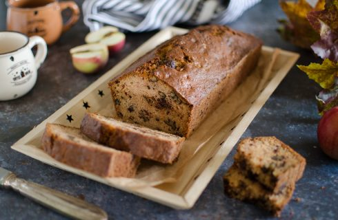 Apple bread con robiola e cioccolato