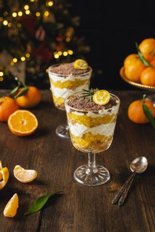 Coppe al mandarino: dessert al cucchiaio