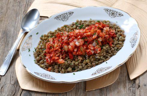 Insalata tiepida di merluzzo e lenticchie