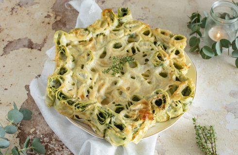 Stella di cannelloni con ricotta e spinaci
