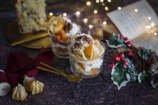 Trifle di panettone con frutti esotici