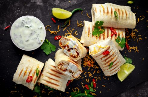 Burrito di pollo: ispirazione messicana