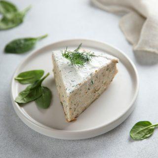 Cheesecake alle erbe, per l'aperitivo