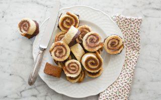 Girelle di pandoro al mascarpone e cioccolato