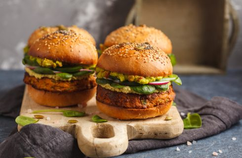 Hamburger di patate dolci: senza carne