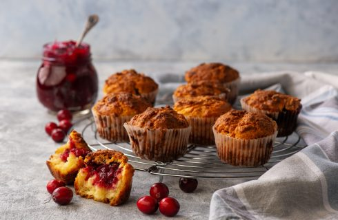 Muffin ai cranberries: per merenda