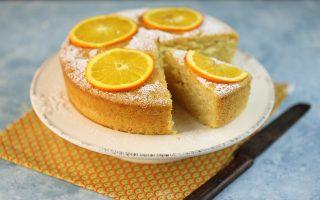 Torta all'arancia senza uova: senza latte nè burro