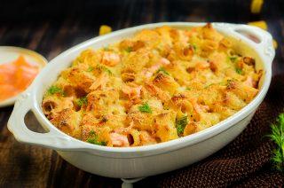 Pasta al forno con salmone, gratinatela a puntino!