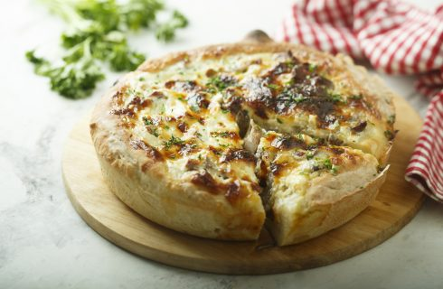 Torta salata ai funghi: senza pasta sfoglia