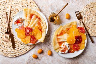 Crepes al miele: variante aromatica