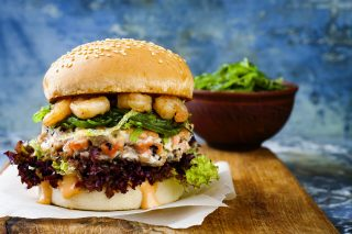Hamburger di gamberi: golosi