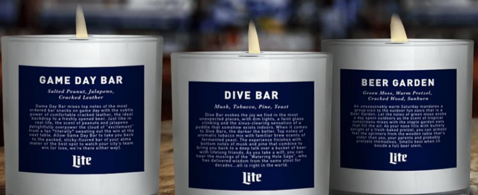Arrivano le candele che profumano… di bar
