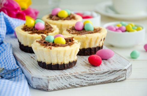 Mini cheesecake di Pasqua con cioccolato avanzato