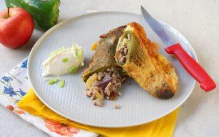 Chiles rellenos con carne: cena messicana