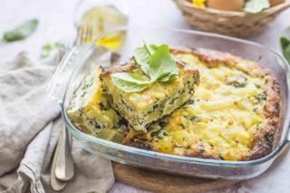 Frittata al forno con verdure, aggiungete la ricotta